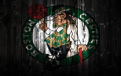 Larry Bird Mixed Media - The Boston Celtics 5c by Brian Reaves