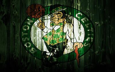 Larry Bird Mixed Media - The Boston Celtics 5d by Brian Reaves