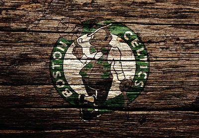 Larry Bird Mixed Media - The Boston Celtics 6e by Brian Reaves
