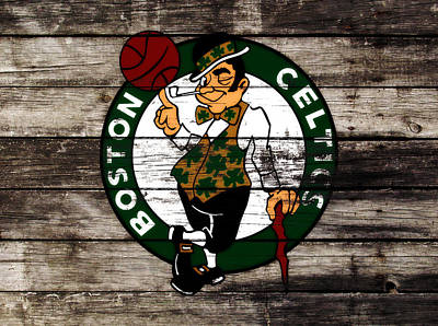 River Jordan Mixed Media - The Boston Celtics W10 by Brian Reaves
