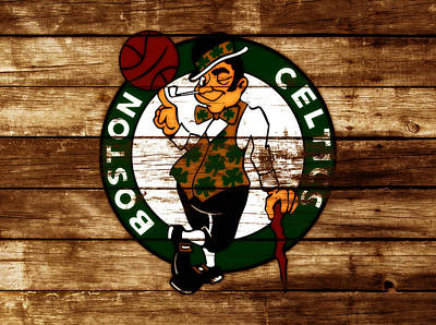 River Jordan Mixed Media - The Boston Celtics W6 by Brian Reaves