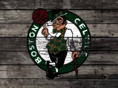 River Jordan Mixed Media - The Boston Celtics W7 by Brian Reaves