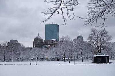 Photograph - The Boston Common Covered In Snow Winter Boston Ma by Toby McGuire