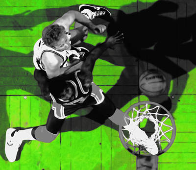 Larry Bird Wall Art - Mixed Media - The Boston Garden by Brian Reaves