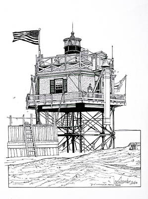 The Boston Narrows Lighthouse Art Print