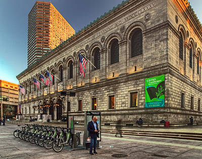 Photograph - The Boston Public Library 041 by Jeff Stallard