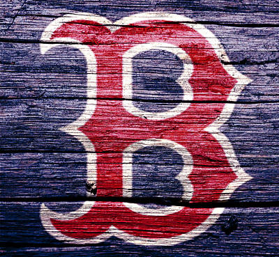 Ny Yankees Mixed Media - The Boston Red Sox 2b by Brian Reaves