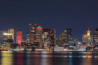 Photograph - The Boston Skyline Lit Up For Christmas by Toby McGuire