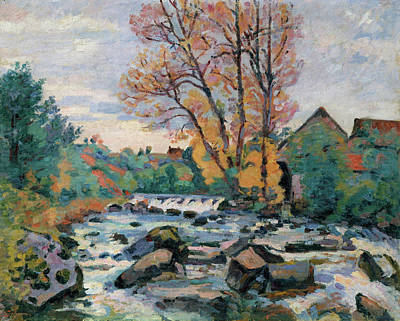 Country Painting - The Bouchardon Mill, Crozant by Armand Guillaumin