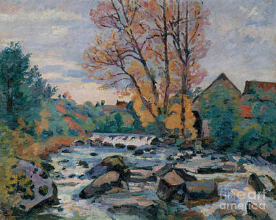 Water Mill Painting - The Bouchardon Mill, Crozant by Jean Baptiste Armand Guillaumin