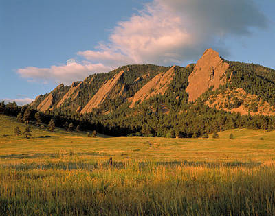 Mountain Royalty-Free and Rights-Managed Images - The Boulder Flatirons by Jerry McElroy
