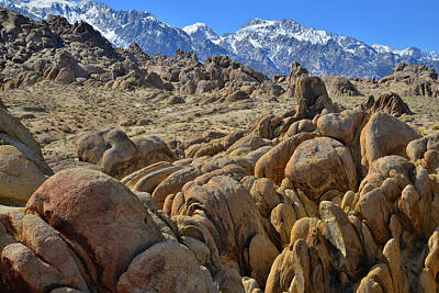 Photograph - The Boulders And Mountains Of The Alabama Hills by Ray Mathis