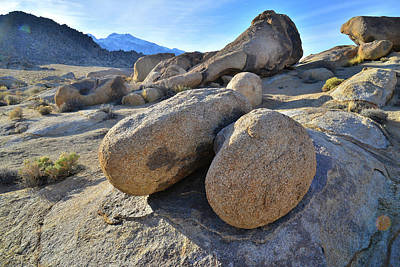 Travel Rights Managed Images - The Boulders of the Alabama Hills at Sunset Royalty-Free Image by Ray Mathis