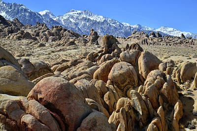 Photograph - The Boulders Of The Alabama Hills Near Lone Pine Ca by Ray Mathis