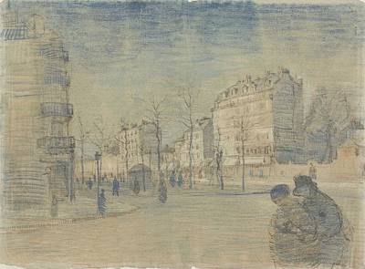 Painting - The Boulevard De Clichy Paris, February 1887 Vincent Van Gogh 1853  1890 by Artistic Panda