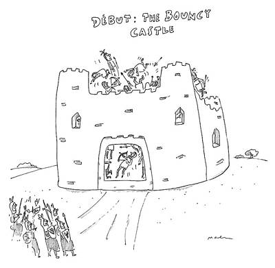 Drawing - The Bouncy Castle by Michael Maslin