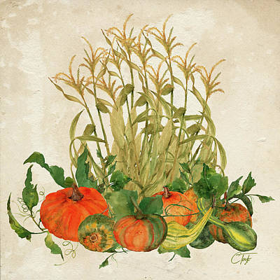 Pumpkin Mixed Media - The Bountiful Harvest by Colleen Taylor