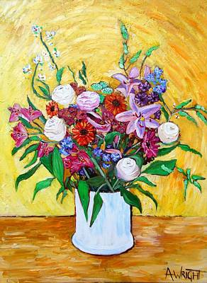 Painting - The Bouquet by Angie Wright