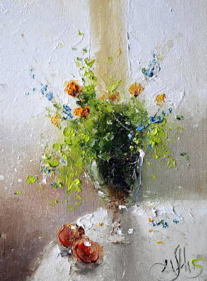 Painting - The Bouquet For Beloved Woman by Igor Medvedev