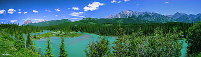 Photograph - The Bow River Above Banff by Philip Rispin