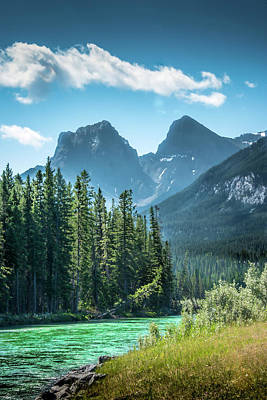 Photograph - The Bow River At Canmore by Phil Rispin