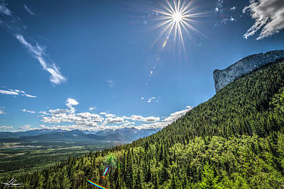 Photograph - The Bow River Valley by Philip Rispin