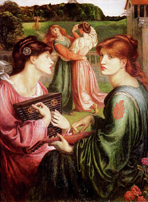 River Painting - The Bower Meadow by Gabriel Rossetti