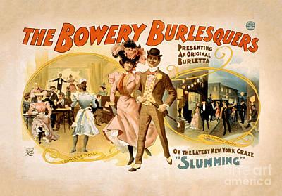 Burlesque Digital Art - The Bowery Burlesquers 1898 Restored by Carsten Reisinger