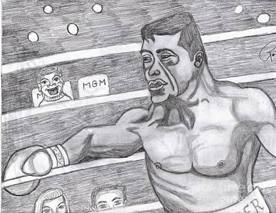 the Boxer Art Print by Richard Heyman