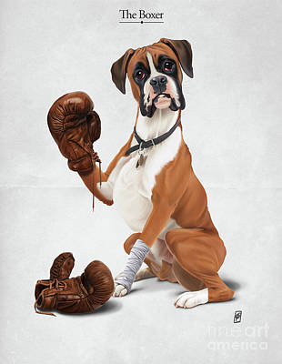 Digital Art - The Boxer by Rob Snow