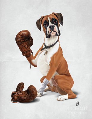 Digital Art - The Boxer Wordless by Rob Snow