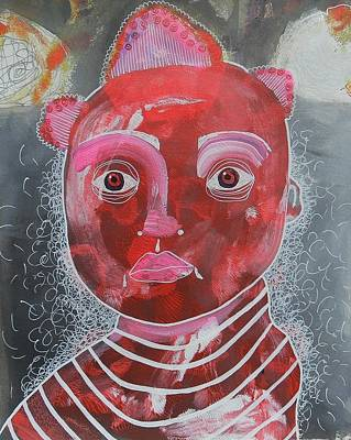 Primitive Raw Art Painting - The Boy by Bea Roberts