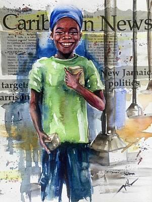 The Boy Who Sells Peanuts Art Print