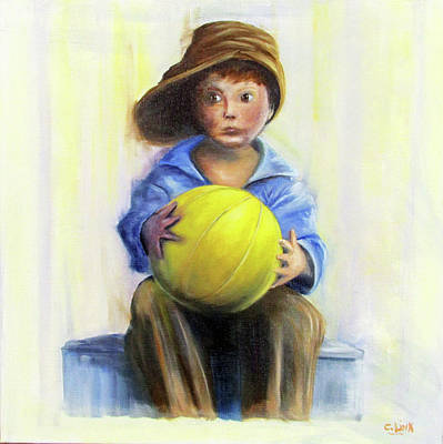 Painting - The Boy With The Ball by Catherine Link