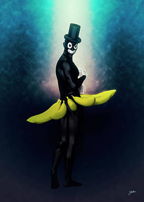 Digital Art - The Boy With The Big Banana by Joaquin Abella