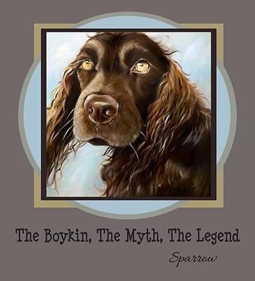 Boykin Spaniel Painting - The Boykin, The Myth, The Legend by Mary Sparrow