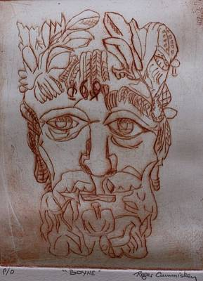 Drawing - The Boyne by Roger Cummiskey