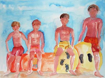 The Boys Of Summer Art Print by Cindy Glazier
