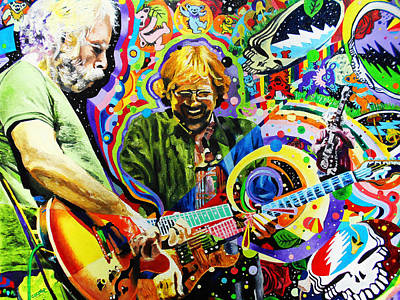 Jerry Garcia Painting - The Boys Of Summer by Kevin J Cooper Artwork