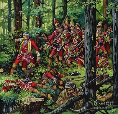 Painting - The Braddock Massacre by Ron Embleton
