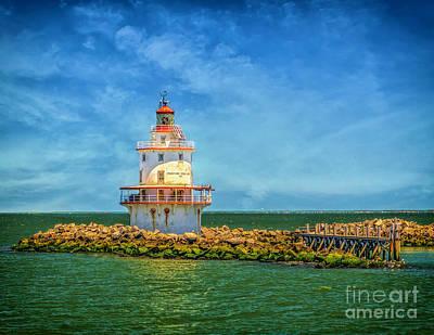 Photograph - The Brandywine Shoal Lighthouse by Nick Zelinsky