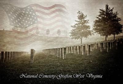 National Cemetery Digital Art - The Brave by Anita Hubbard