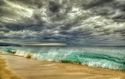Photograph - The Breaking Point Cloudy North Shore Oahu Hawaii Art by Reid Callaway