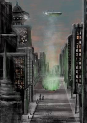 Digital Art - The Breakthrough by Larry Whitler