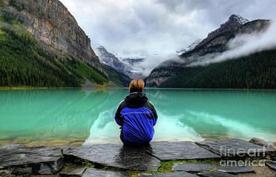 Fairmont Photograph - The Breathtakingly Beautiful Lake Louise Ix by Wayne Moran