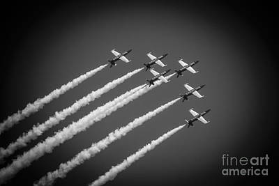 Breitling Photograph - The Breitling Air Team by Mary Machare