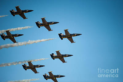 Photograph - The Breitling Jet Team by Wayne Wilton