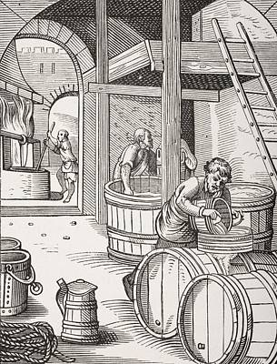 The Brewer. 19th Century Copy Of Print by Vintage Design Pics