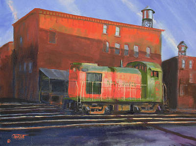 Art Print featuring the painting The Brick Canyon by Christopher Jenkins