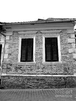 Photograph - The Brick House Monochrome Version by Erika H